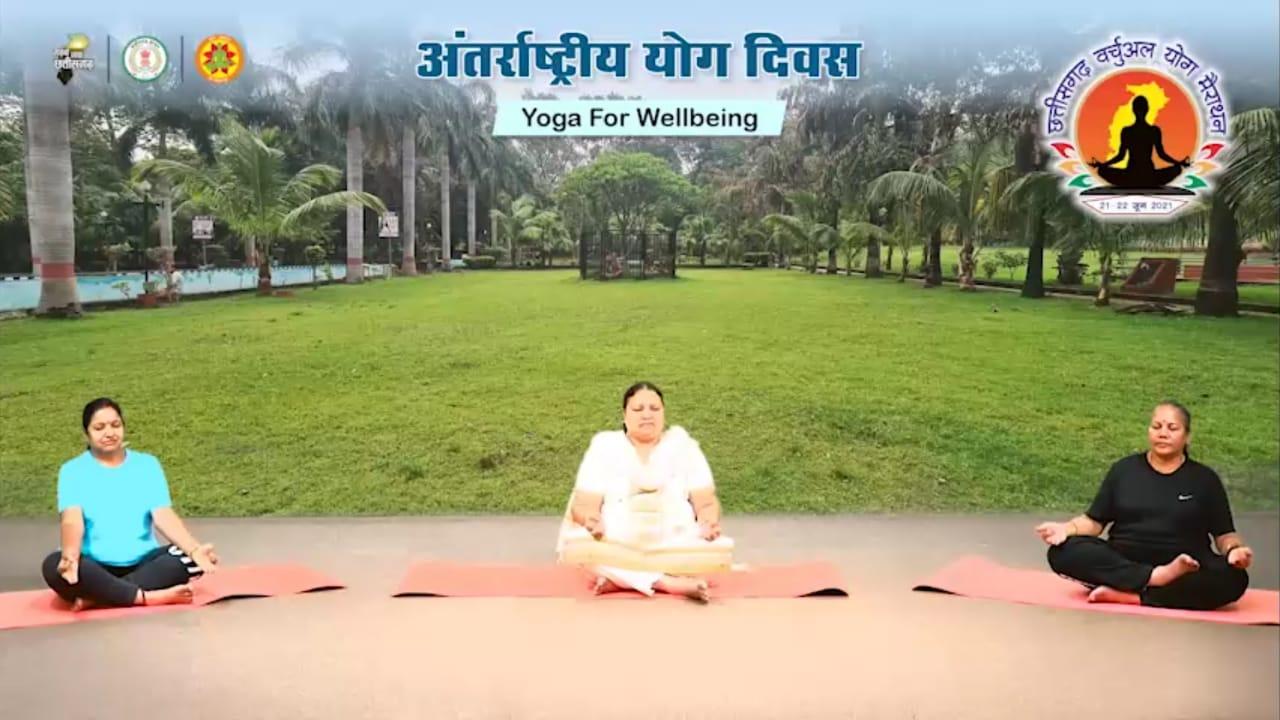 अंतर्राष्ट्रीय योग दिवस : तन-मन को स्वस्थ्य रखने नियमित करें योग : मंत्री श्रीमती भेंड़िया
