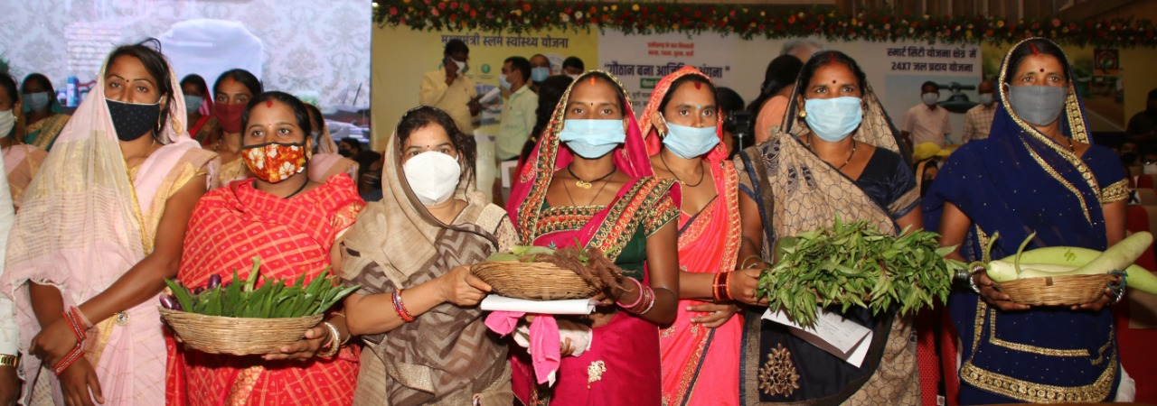 रायपुर : महिला समूह ने सब्जी बेच कर साढे़ तीन लाख रूपये की आय अर्जित की