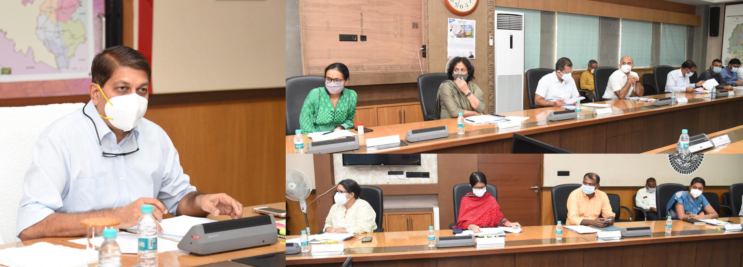 रायपुर : मुख्यमंत्री के सर्वोच्च प्राथमिकता वाले कार्यों के क्रियान्वयन और प्रगति की समीक्षा की मुख्य सचिव ने