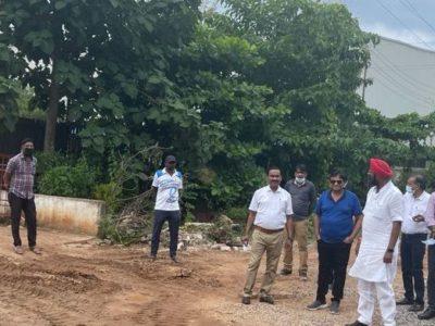 जुनेजा ने विशेष आवासीय योजना धरमपुरा का किया निरीक्षण