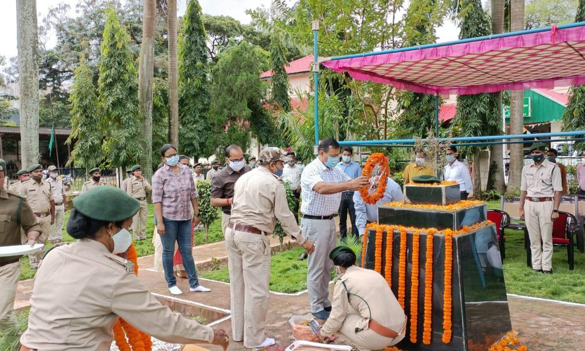 रायपुर : राष्ट्रीय वन शहीद दिवस पर शहीद वन कर्मियों को दी गई श्रद्धांजलि
