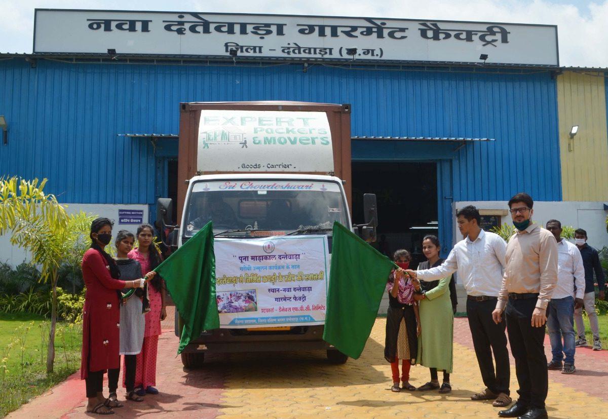 रायपुर : दंतेवाड़ा से डेनेक्स ब्रांड के 4 करोड़ मूल्य के गारमेंट की सप्लाई