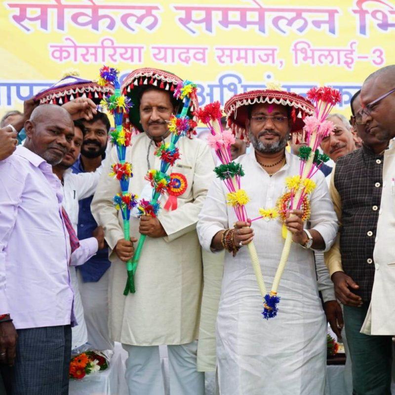 यादव समाज के सम्मेलन में शामिल हुए मंत्री गुरु रूद्रकुमार