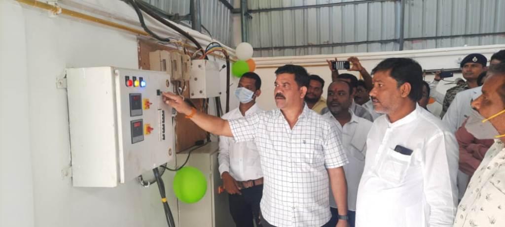 विधायक विक्रम मंडावी ने आक्सीजन जनरेटर प्लांट का किया शुभारंभ